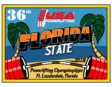 36th Annual USA Powerlifting Florida State Championships (FL-2018-03) - Davie, FL