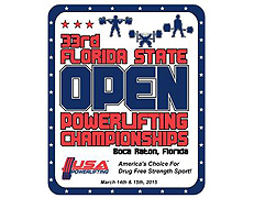 33rd Annual USAPL Florida State Open Powerlifting Championships