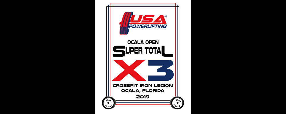 USA Powerlifting Ocala Open Super Total X3 Championships (FL-2019-12)