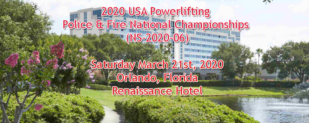 2020 USA Powerlifting Police & Fire National Championships (NS-2020-06)