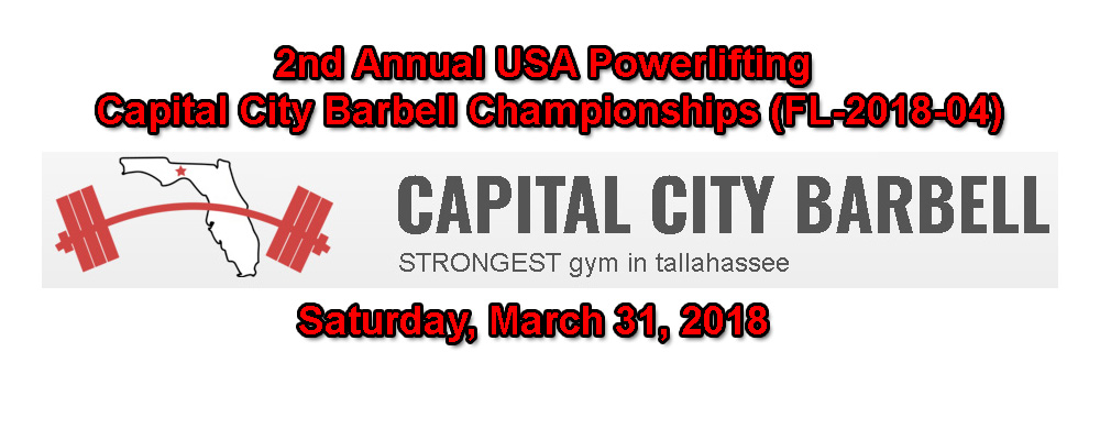 2nd Annual USA Powerlifting Capital City Barbell Championships (FL-2018-04)