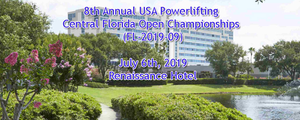 8th Annual USA Powerlifting Central Florida Open Championships (FL-2019-09)